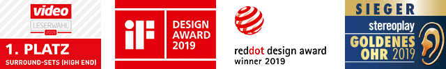 nuPro X-8000 - 1. Platz Leserwahlen Stereoplay und Video, reddot design award winner & iF Design Award